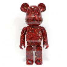 1000% Bearbrick Mika Ninagawa Leather Rose