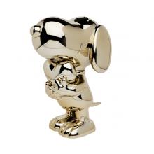Snoopy Coeur Chromé Or