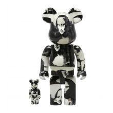 400 % + 100% Bearbrick Andy Warhol Double Mona Lisa