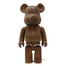 400% Bearbrick Karimoku Ovangkol Wood