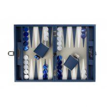 Hector Saxe Baptiste Backgammon Cuir Buffle Medium Bleu de France