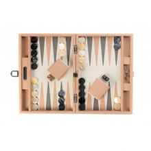 Hector Saxe Camille Backgammon Cuir Couture Medium Poudre