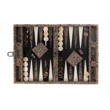 Hector Saxe Clément  Backgammon Cuir de Velours Medium Camouflage