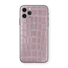 Apple iPhone Signature Alligator Gold Diamonds by Hadoro - Pink