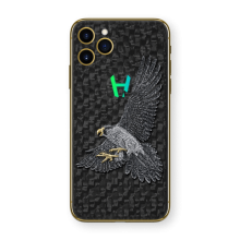 Apple iPhone Hunting Falcon by Hadoro - Yellow Gold