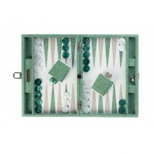 Hector Saxe Gabin Backgammon Cuir Façon Galuchat Medium Vert