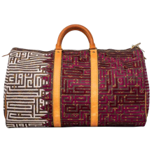 Jay Ahr Embroidery Collection x The Vintage Louis Vuitton Keepall Qatar Geometric