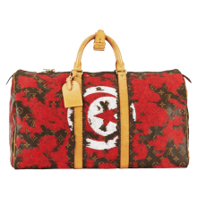 Jay Ahr Embroidery Collection x The Vintage Louis Vuitton Drapeau Keepall Tunisie