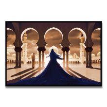 Tableau La Femme en Bleu Face à la Mosquée Blanche de Ludovic Baron - Limité à 1 exemplaire par format