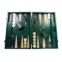 Hector Saxe Louis Backgammon Cuir Patiné Large Vert