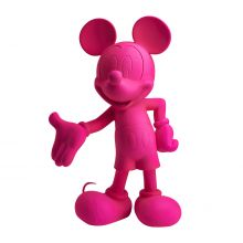 Mickey Welcome Soft Touch Fluo Rose