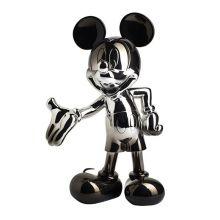 Mickey Welcome Dégradé Noir et Argent