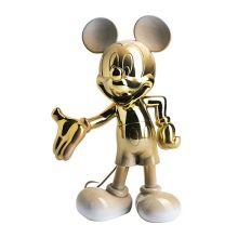 Mickey Welcome Dégradé Blanc et Or